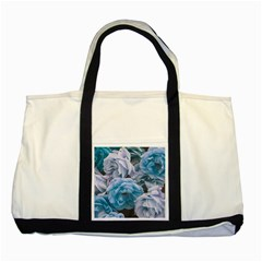 Great Garden Roses Blue Two Tone Tote Bag
