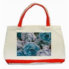 Great Garden Roses Blue Classic Tote Bag (red)