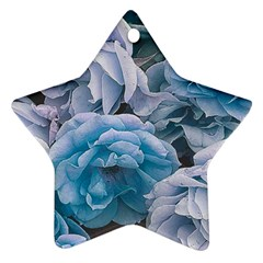 Great Garden Roses Blue Star Ornament (two Sides)