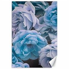Great Garden Roses Blue Canvas 12  X 18