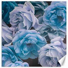 Great Garden Roses Blue Canvas 16  X 16