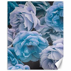 Great Garden Roses Blue Canvas 16  X 20