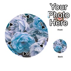 Great Garden Roses Blue Playing Cards 54 (round)