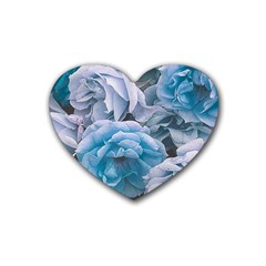 Great Garden Roses Blue Heart Coaster (4 Pack)