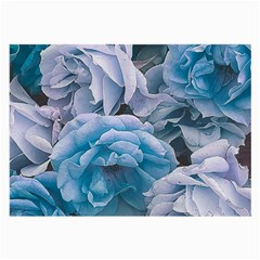 Great Garden Roses Blue Large Glasses Cloth