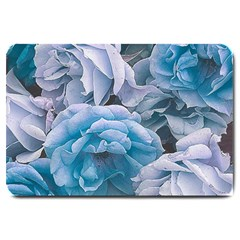 Great Garden Roses Blue Large Doormat