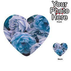 Great Garden Roses Blue Multi-purpose Cards (Heart)