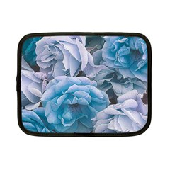 Great Garden Roses Blue Netbook Case (small)