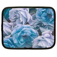 Great Garden Roses Blue Netbook Case (large)