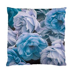 Great Garden Roses Blue Standard Cushion Case (one Side)