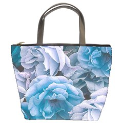 Great Garden Roses Blue Bucket Bags