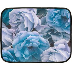 Great Garden Roses Blue Fleece Blanket (Mini)