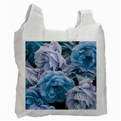 Great Garden Roses Blue Recycle Bag (two Side)