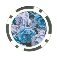 Great Garden Roses Blue Poker Chip Card Guards (10 Pack)