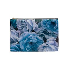 Great Garden Roses Blue Cosmetic Bag (medium)