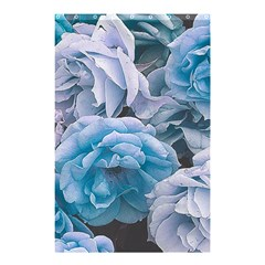 Great Garden Roses Blue Shower Curtain 48  x 72  (Small)