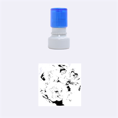 Great Garden Roses Blue Rubber Round Stamps (Small)