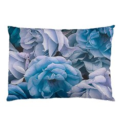 Great Garden Roses Blue Pillow Cases (two Sides)