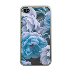 Great Garden Roses Blue Apple Iphone 4 Case (clear)