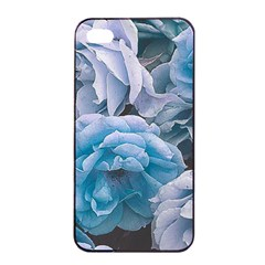 Great Garden Roses Blue Apple Iphone 4/4s Seamless Case (black)