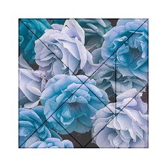 Great Garden Roses Blue Acrylic Tangram Puzzle (6  x 6 )
