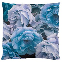 Great Garden Roses Blue Large Cushion Cases (two Sides)