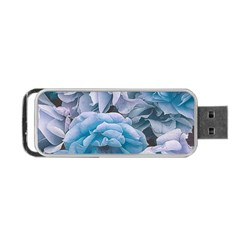 Great Garden Roses Blue Portable USB Flash (One Side)