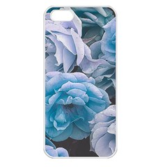 Great Garden Roses Blue Apple Iphone 5 Seamless Case (white)