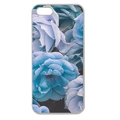 Great Garden Roses Blue Apple Seamless Iphone 5 Case (clear)