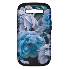Great Garden Roses Blue Samsung Galaxy S Iii Hardshell Case (pc+silicone)