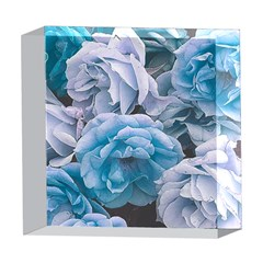 Great Garden Roses Blue 5  x 5  Acrylic Photo Blocks