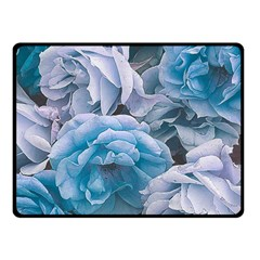 Great Garden Roses Blue Double Sided Fleece Blanket (small)