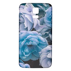 Great Garden Roses Blue Samsung Galaxy S5 Back Case (white)