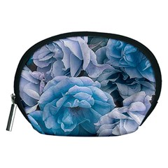 Great Garden Roses Blue Accessory Pouches (medium)