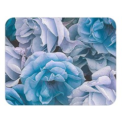 Great Garden Roses Blue Double Sided Flano Blanket (large)