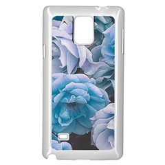 Great Garden Roses Blue Samsung Galaxy Note 4 Case (white)