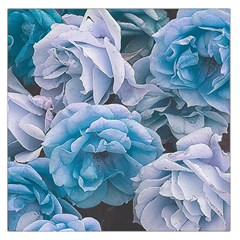 Great Garden Roses Blue Large Satin Scarf (square)