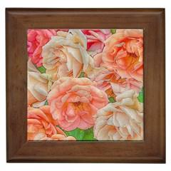 Great Garden Roses, Orange Framed Tiles