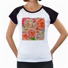 Great Garden Roses, Orange Women s Cap Sleeve T