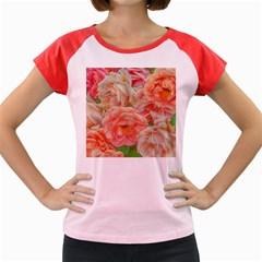 Great Garden Roses, Orange Women s Cap Sleeve T Shirt