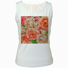 Great Garden Roses, Orange Women s Tank Tops