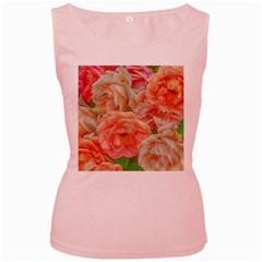 Great Garden Roses, Orange Women s Pink Tank Tops