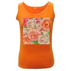 Great Garden Roses, Orange Women s Dark Tank Tops