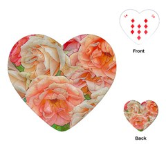 Great Garden Roses, Orange Playing Cards (heart)