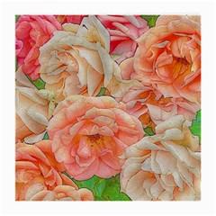 Great Garden Roses, Orange Medium Glasses Cloth