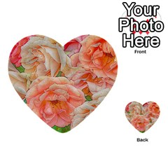 Great Garden Roses, Orange Multi-purpose Cards (Heart)