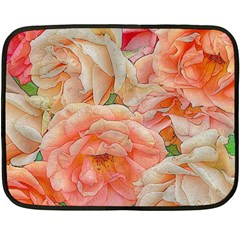 Great Garden Roses, Orange Fleece Blanket (Mini)