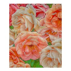 Great Garden Roses, Orange Shower Curtain 60  X 72  (medium)