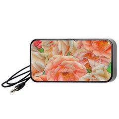 Great Garden Roses, Orange Portable Speaker (Black)