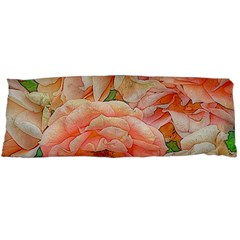 Great Garden Roses, Orange Body Pillow Cases Dakimakura (Two Sides)